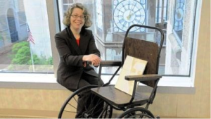 Kristy with wheelchair